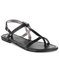 Rampage 143 Girl Radko Flat Thong Sandals Women's Shoes Black