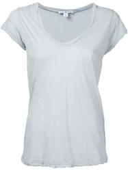 James Perse Relaxed Fit T Shirt Women Cotton 1 Green