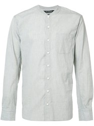 Wings Horns Mandarin Neck Shirt Grey
