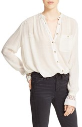 Women's Free People 'The Best' Button Front Blouse