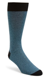 John W. Nordstrom Feeder Stripe Socks Black Blue
