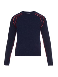 J.W.Anderson Contrast Stitch Wool Blend Sweater