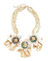 Lydell Nyc Oversized Flower Statement Bib Necklace Multi