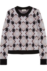 Temperley London Lia Merino Wool And Cashmere Blend Jacquard Sweater