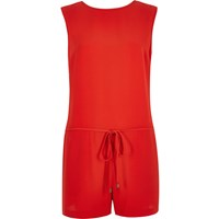 River Island Womens Bright Red Romper Playsuit