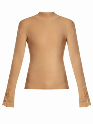Ellery Yours Sincerely High Neck Sweater Camel