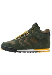 Hummel Nordic Roots Forest Hightop Trainers Rosin Green