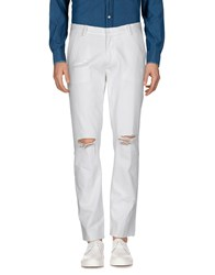 Roundel London Casual Pants White