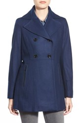 Michael Michael Kors Wool Blend Peacoat Blue