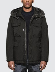 Stone Island Field Jacket With Removable Hood Black