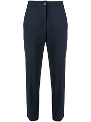 Erika Cavallini Cropped Trousers Blue