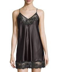 Oscar De La Renta Prism Pretty Nightgown W Lace Black
