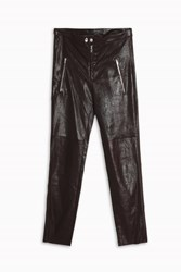 Isabel Marant Arnold Gloss Leather Trousers Red