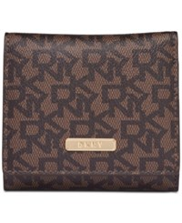 Dkny Bryant Trifold Wallet Created For Macy's Brown Logo