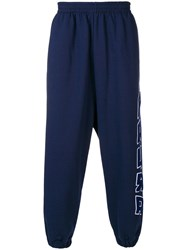 Paura Loose Track Trousers Blue
