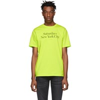 Saturdays Surf Nyc Yellow Miller Standard T Shirt