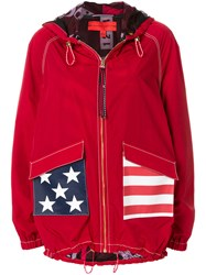 Tommy Hilfiger Stars And Stripes Hooded Jacket Red