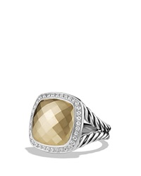 David Yurman Ring With 14K Gold Dome And Diamonds Gold Silver