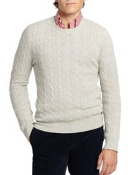 Polo Ralph Lauren Cable Knit Cashmere Sweater Green Grey Heather Logan Berry Navy Blue Fawn Grey