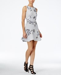 Armani Exchange Floral Print Fit And Flare Dress Harbor Mist