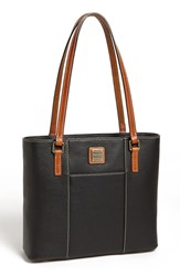 Dooney Bourke 'Small Lexington Pebble Grain Collection' Water Resistant Leather Shopper Black