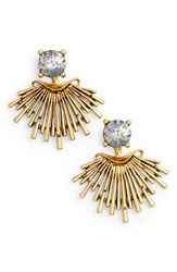Badgley Mischka 'S Crystal Drop Earrings Gold
