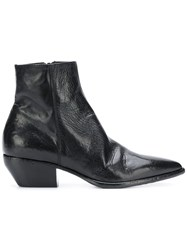 Elena Iachi Pointed To Ankle Boots Black
