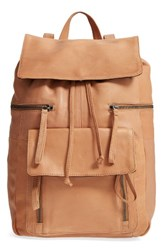 Day And Mood Hannah Leather Backpack Brown Cognac