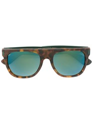 Retrosuperfuture 'Flat Top Francis Squadra' Sunglasses Brown
