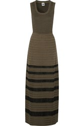 M Missoni Tulle And Cotton Blend Maxi Dress Green