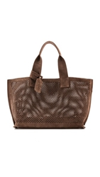 Pedro Garcia Perforated Tote Nut