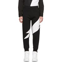 Neil Barrett Black And White Thunderbolt Lounge Pants