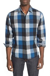 Men's Eddie Bauer 'Woodhacker Ilaria Urbinati Collection' Trim Fit Flannel Sport Shirt Sapphire