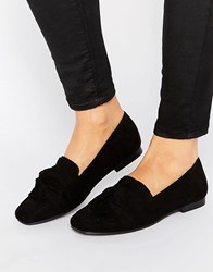 New Look Suedette Loafers Black