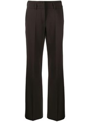 Cambio Creased Straight Leg Trousers Brown