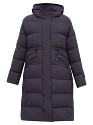 Herno Quilted Down Filled Hooded Coat Navy
