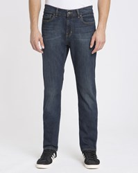 Element Dark Blue Used Effect Desoto Stretch Tapered Fit Jeans