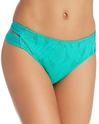 Athena All Dressed Up Double Strap Hipster Bikini Bottom Jade Green