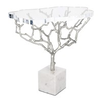 Marinette Saint Tropez Acrylic Tree Side Table Shiny Nickel