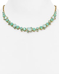 Sorrelli Swarovski Crystal Collar Necklace 16 Green Gold