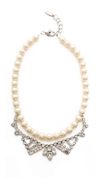 Joomi Lim Rebel Romance Imitation Pearl Necklace Crystal Pearl