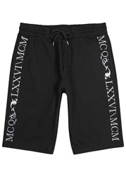 Mcq By Alexander Mcqueen Black Embroidered Cotton Shorts