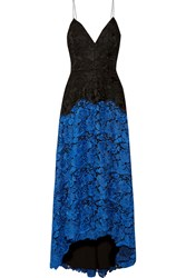 Badgley Mischka Two Tone Lace Gown Blue