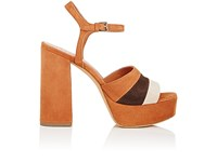 Derek Lam Women's Birgitta Colorblocked Suede Platform Sandals Black Beige Dark Brown Brown Black Beige Dark Brown Brown