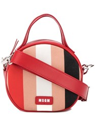 Msgm Small Round Shoulder Bag Red