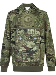 Givenchy Camouflage Hooded Sweatshirt Green