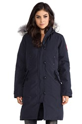 Canada Goose Kensington Parka With Coyote Fur Trim Navy