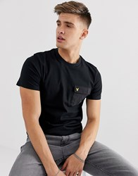 Lyle And Scott Contrast Pocket T Shirt In Black