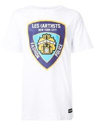 Les Artists Art Ists 'Fashion Police' T Shirt White