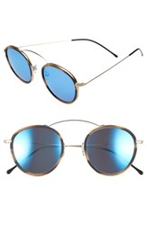 Spektre Women's 'Met Ro 2' 48Mm Sunglasses Gold Caffe Latte Blue Mirror Gold Caffe Latte Blue Mirror